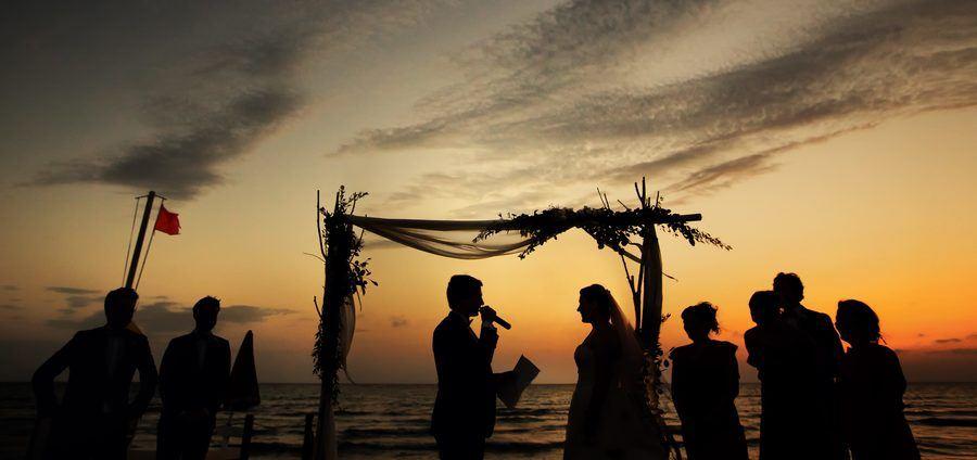 mariage dans un lido