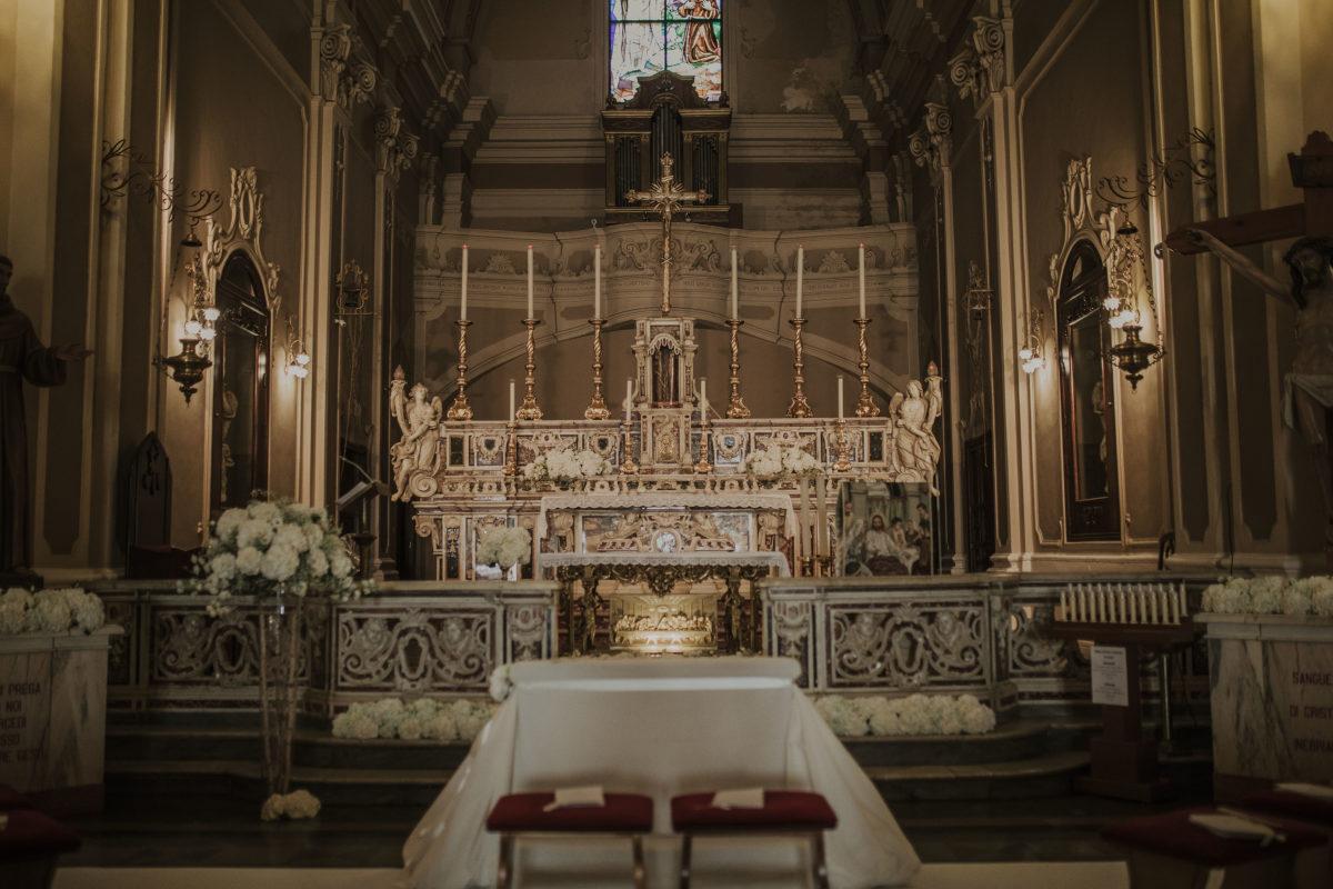 Eglise italienne cérémonie catholique