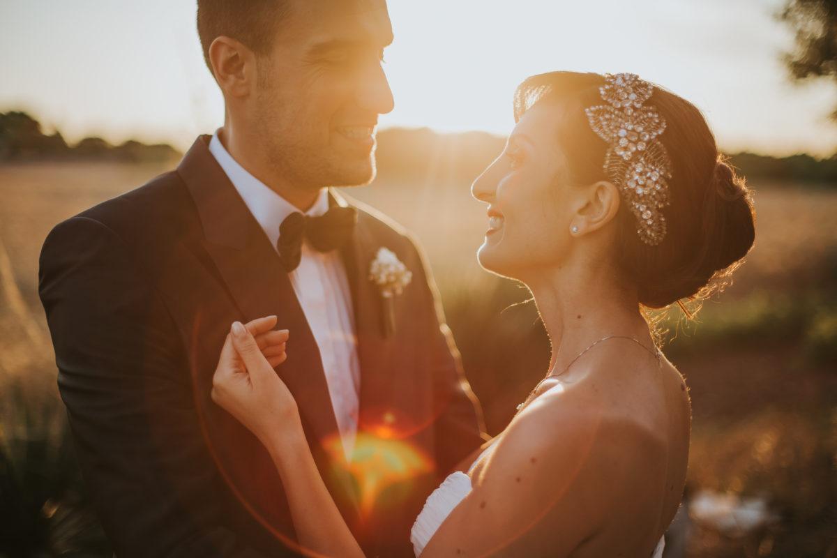 Mariage coucher de soleil noces italiennes