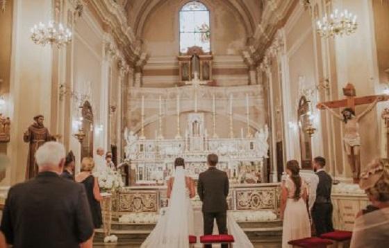 Mariage catholique en Italie