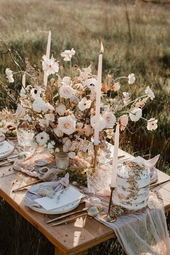 Table mariage rustique