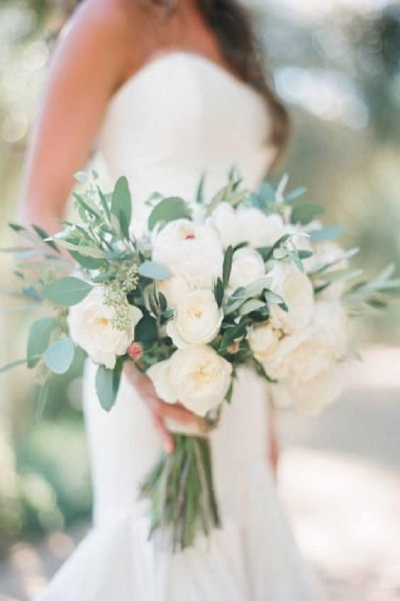 bouquet de mariage blanc