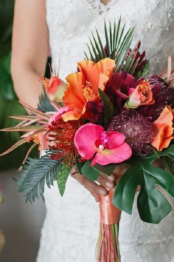 bouquet mariage exotique 2