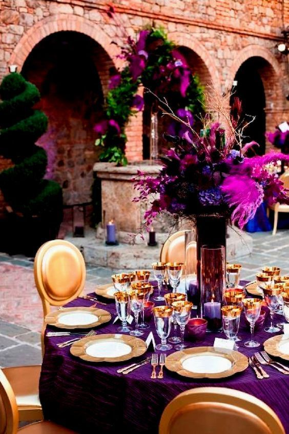 déco table mariage ultra violet 4