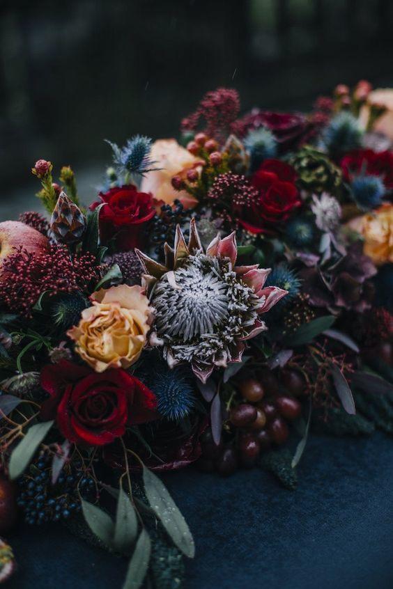 fleurs mariage hiver