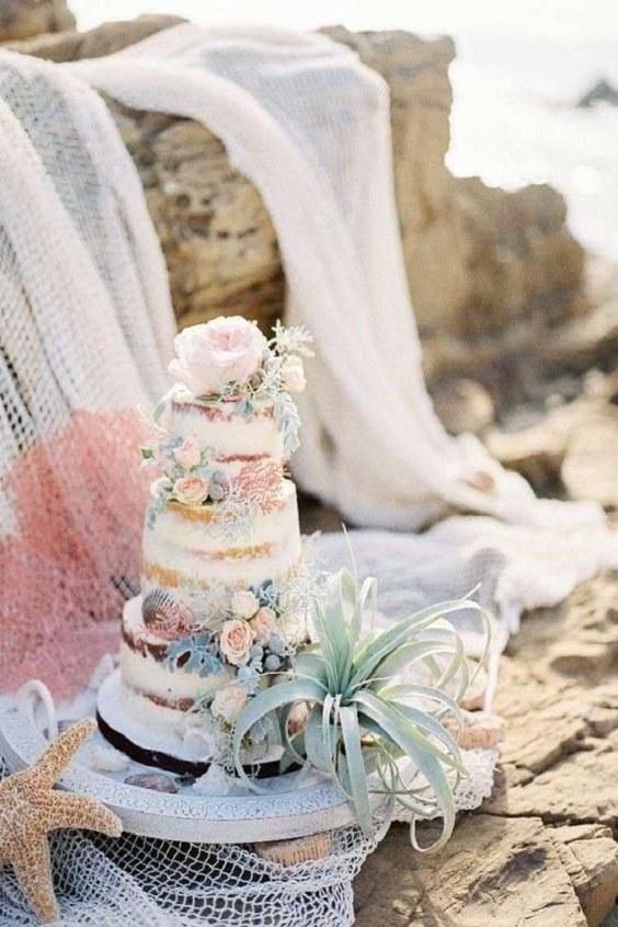 gateau mariage bords de mer