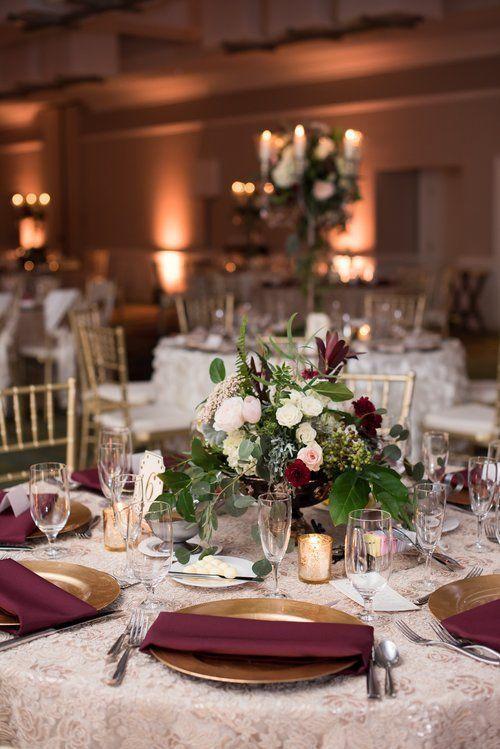 table burgundy