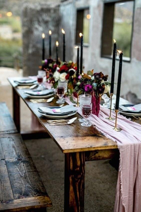 wedding table violet 14