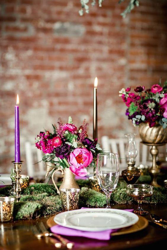 wedding table violet