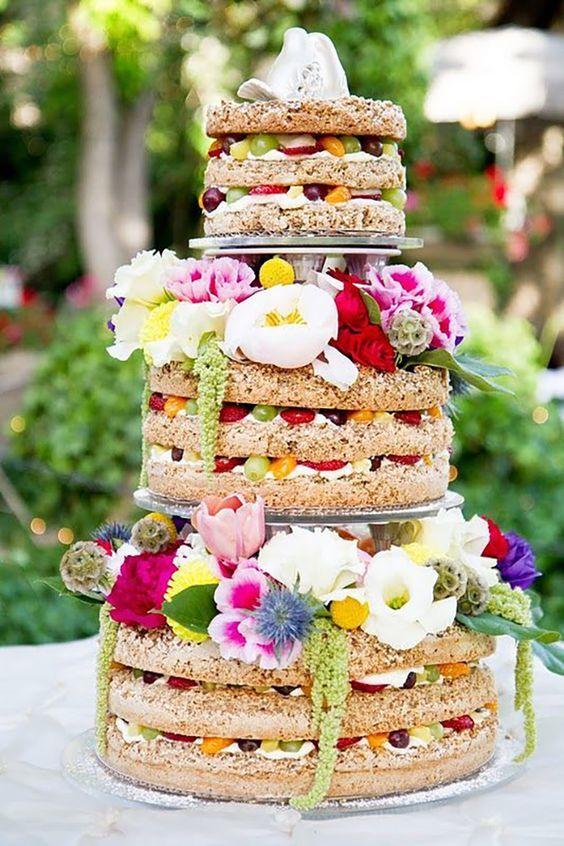 wedding cake coloré