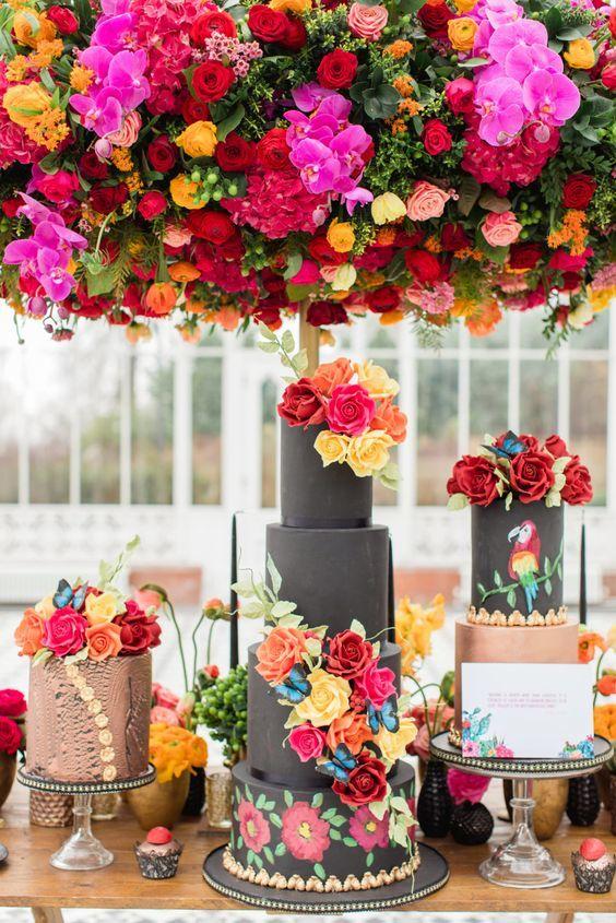 déco thème mariage coloré
