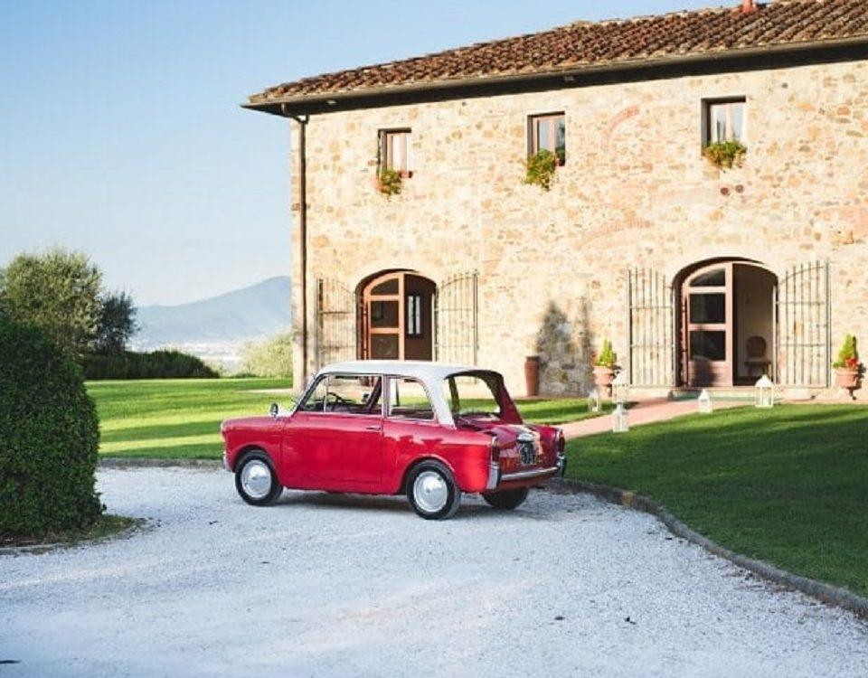 classic Fiat 500 in tuscany