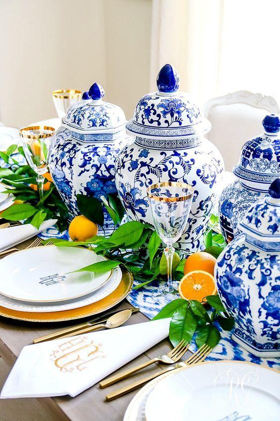 décoration de mariage en céramique colorée