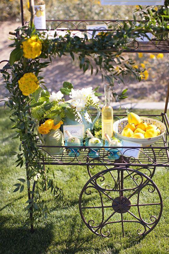 décoration de mariage jaune citron