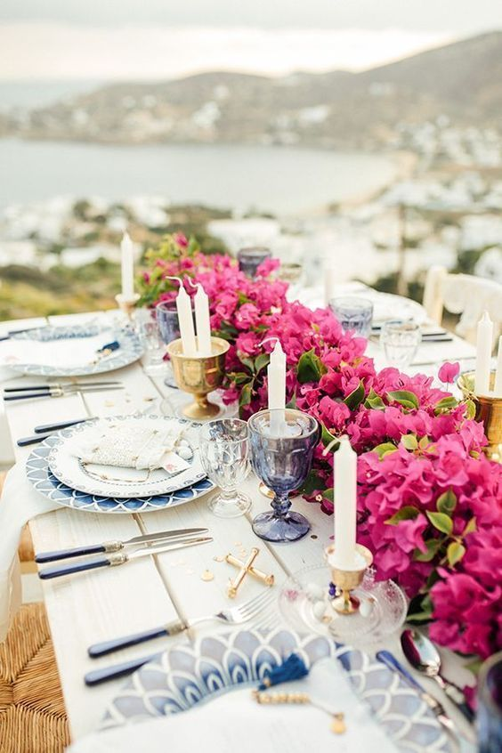 table céramique bougainvillier